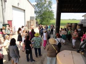 Group tour of Ingleside Vineyards