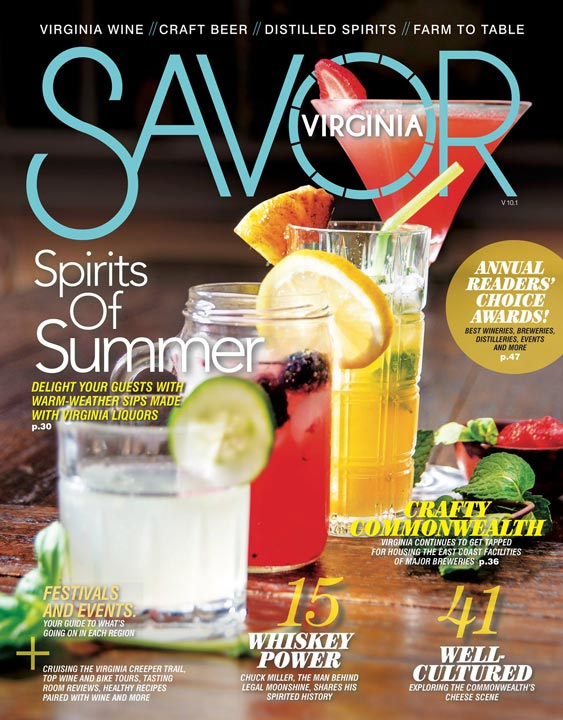 Savor Virginia Magazine cover